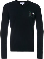 Salvatore Ferragamo v-neck embellished sweater