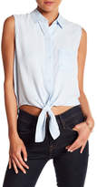 Rails Noelle Tie Front Sleeveless Shirt