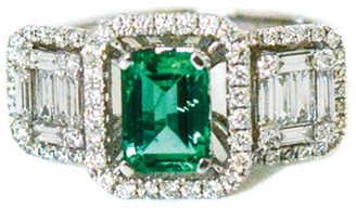 Arthur Marder Fine Jewelry 18K 1.65 Ct. Tw. Diamond & Emerald Ring