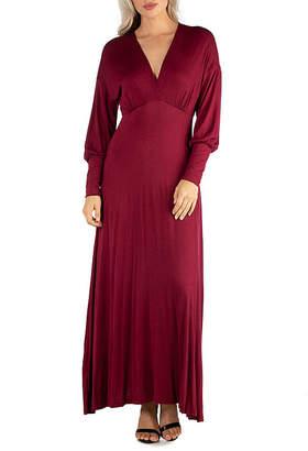 24/7 Comfort Apparel Formal Long Sleeve Maxi