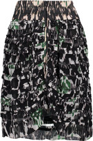 Isabel Marant Piero tiered printed silk-georgette mini skirt