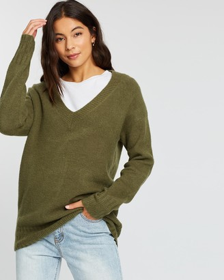 Rusty Together Vee Neck Knit