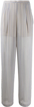 Semi-Couture Striped High-Waisted Trousers