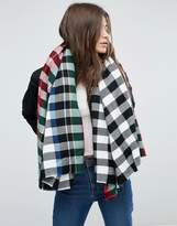 Asos Blown Up Square Black Plaid Scarf