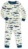 Hatley Toddler's & Little Boy's Two-Piece Shark Printed Tee & Pants Pajama Set
