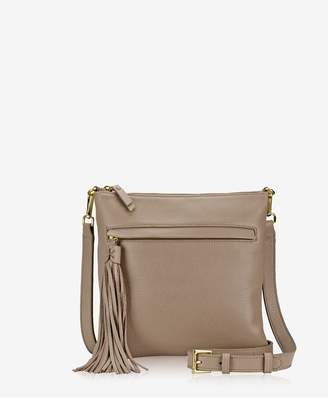 GiGi New York Scout Crossbody In Stone Napa Luxe