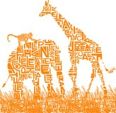 SUM Animalia Safari Wallpaper in Orange