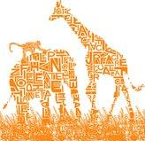 Design Public SUM Animalia Safari Wallpaper in Orange