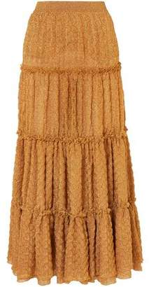 Missoni Tiered Metallic Jacquard-knit Maxi Skirt