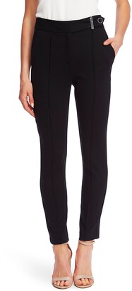 CeCe Pintuck Tapered Ponte Knit Pants