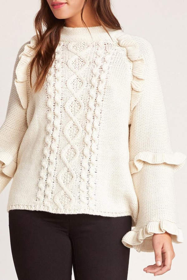 BB Dakota Power-Cable Sweater, Oatmeal
