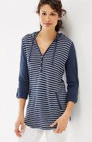 J. Jill Linen & Cotton Shirttail Hoodie