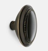 Rejuvenation Beaded Oval Door Knob