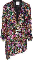Markarian M'O Exclusive Paillette Mini Wrap Dress