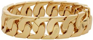 Numbering Gold Big Curb Chain Bracelet