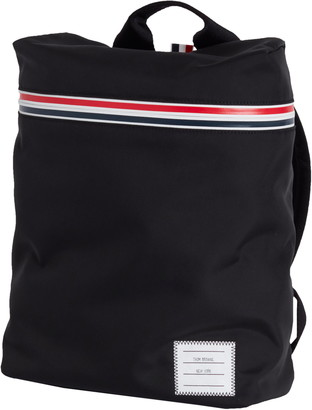 Thom Browne Small Stripe Black Nylon Backpack
