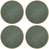 AERIN Shagreen Coasters Set of 4 - Green