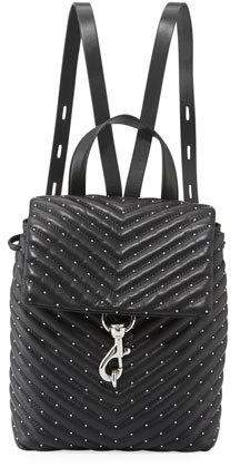 Rebecca Minkoff Edie Quilted Leather Flap Backpack