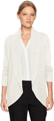 Sag Harbor Women's Long Sleeve Curved Hem Cardigan