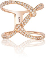 Effy Jewelry Effy Pave Rose 14K Rose Gold Diamond Ring, 0.37 TCW