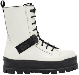 UGG Sheena Leather Combat Boots