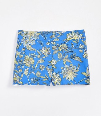 LOFT Trellis Garden Rivera Shorts with 4 Inch Inseam