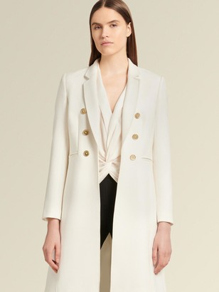 DKNY Double-breasted Long Jacket