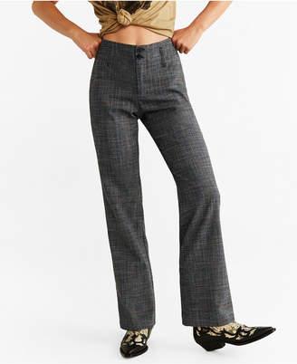 MANGO Printed Straight Pants