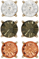 Natasha Accessories Stone Stud Earrings Set