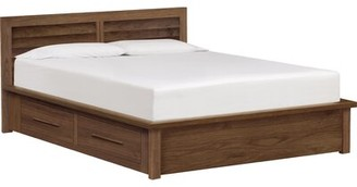 Copeland Furniture Moduluxe Clapboard Storage Platform Bed Size: Queen, Color: Cocoa Maple