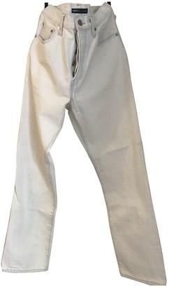 Levi's White Cotton - elasthane Jeans for Women