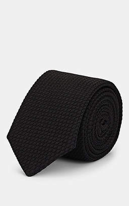 Barneys New York Men's Silk Jacquard Necktie - Black