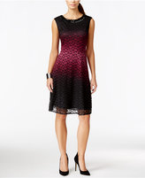 Sandra Darren Petite Lace Ombré Fit & Flare Dress