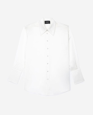The Kooples Classic buttoned white silk shirt