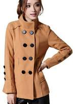 Partiss Womens Ladies Double Breasted Wool Blend PeaCoat