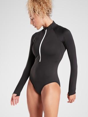 Athleta Endurance Half Zip Bodysuit