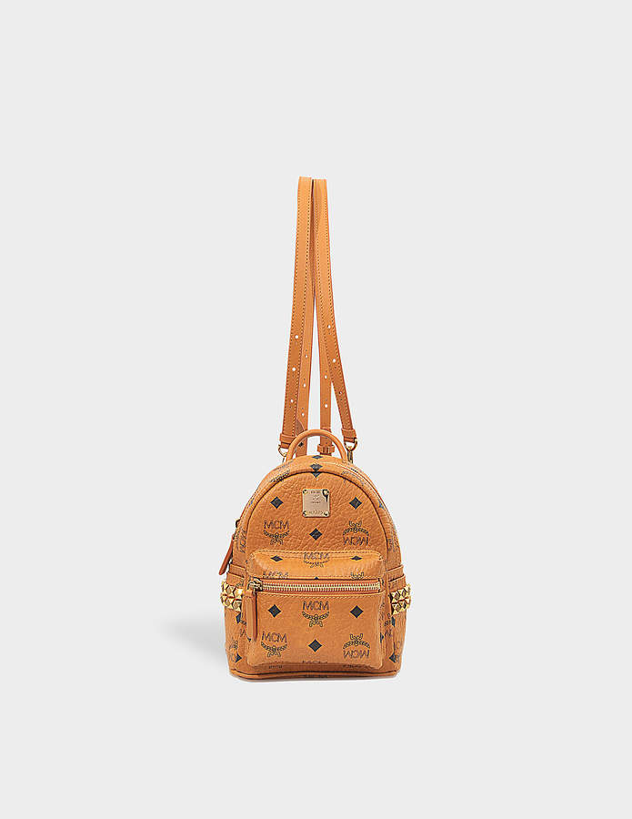 MCM X-Mini Stark Backpack in Cognac Visetos