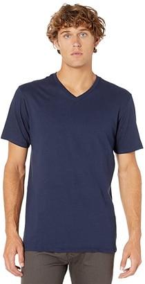 Hurley Staple V-Neck Tee (Obsidian) Men's Short Sleeve Pullover