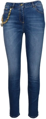 Elisabetta Franchi Celyn B. Gold Chain And Charm Jeans