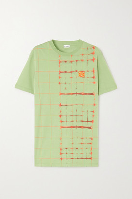 Loewe Embroidered Tie-dyed Cotton-jersey T-shirt - Green