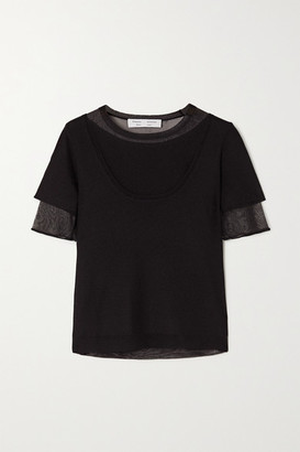 Proenza Schouler White Label Layered Knitted Top - Black