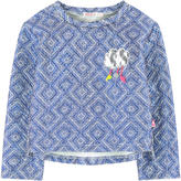 Billieblush Ethnic sweatshirt with a patch