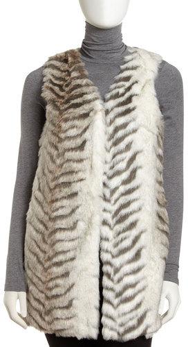Romeo & Juliet Couture Faux Fur Long Vest