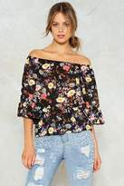 Nasty Gal Wild Flower Ruffle Top