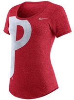 Nike Women's Philadelphia Phillies Marled Scoop Logo T-Shirt