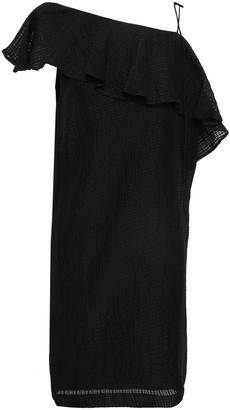 Baum und Pferdgarten One-shoulder Silk And Linen-blend Mini Dress