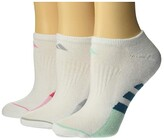 adidas Cushioned II No Show Socks 3-Pack (White/Real Pink/Light Pink/White/Light Pink Marl) Women's Crew Cut Socks Shoes