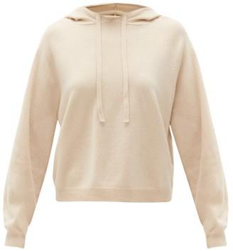 Allude Drawstring Wool-blend Hooded Sweater - Womens - Beige