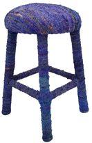nuLoom Handmade Bombay Blue Sari Silk Bar Stool