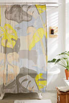 Urban Outfitters Abstract Palms Shower Curtain